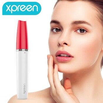 Épilateur de sourcil, épilateur électrique indolore de rasoir de sourcils pour des femmes, rasoir portatif d'épilation de sourcil avec la lumière