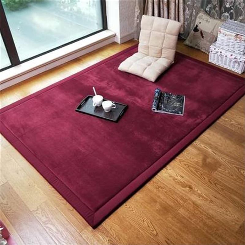 New Thick Coral Fleece Carpet Tatami Mat Living Room Bedroom Carpet Children Crawling Mat  Baby Bedside Blanket Rectangular Rug