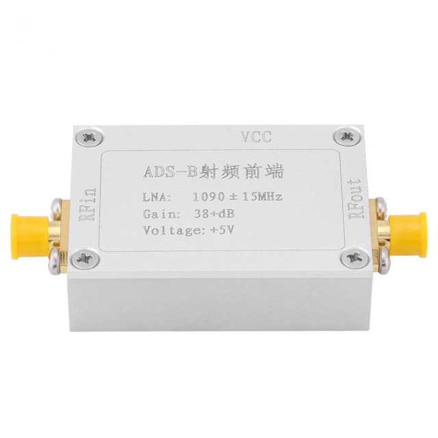 VBESTLIEF DC 3 3 5V ADS B 1090MHz RF Front end Radio Frequency Low Noise  Amplifier 38dB Gain LNA RF Amplifier rf power amplifier-in Frequency Meters