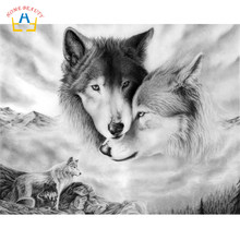 diy paints painting by numbers animals wolf pictures canvas prints wall art poster for the kitchen home decoration RA3228(China)