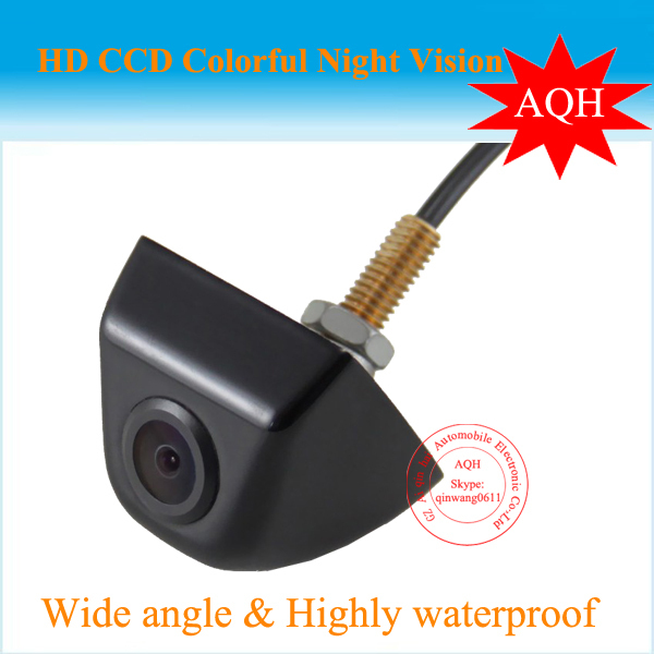 Free shipping universal Car CCD  rear  view rearview camera  metal cover waterproof parking camera night vision Promotion