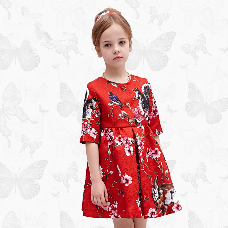 Girls Dresses for Party and Wedding 2017 Brand Summer Dress Princess Costume Rose Bianco Vestido Menina Kids Dress for Girls 11 2017 new girls dresses for party and wedding baby girl princess dress costume vestido children clothing black white 2t 3t 4t 5t