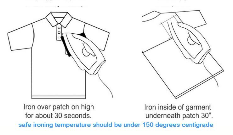 how to iron patches 2