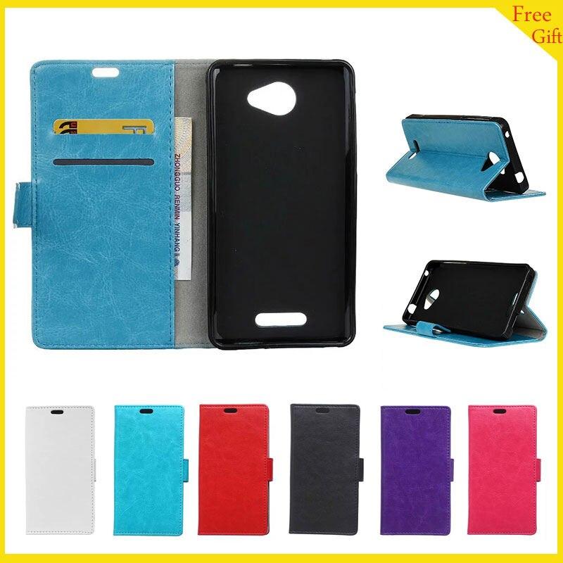 Für Alcatel One Touch POP 4 S 4 S Fall Luxuxmappen PU...