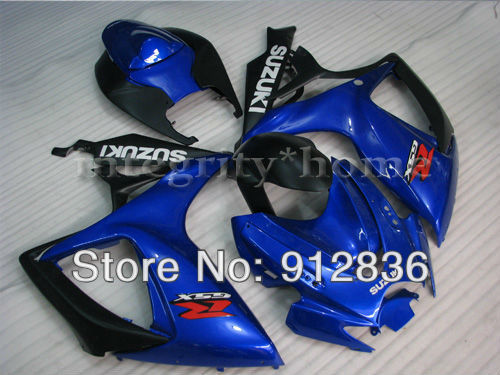 ABS Injection Moto Fairing Set For Suzuki GSX-R 2006 2007 600 750 Not-Handmade Free Shipping by EMS K60002A