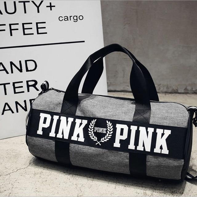 Stylish Outdoor Waterproof Nylon Sports Gym Bags Men Women Girls Training Fitness Travel Handbag Yoga Mat Bag Sac Sport