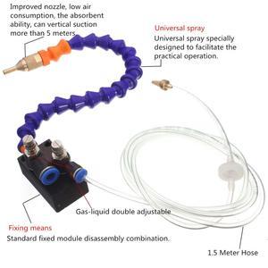Image 4 - Sis soğutma yağlama püskürtme sistemi için 8mm hava borusu CNC torna freze matkap makinesi Metal kesme oyma soğutma makinesi