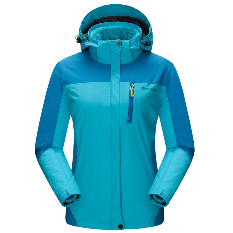 где купить 3in1 Windproof Trekking Hiking Waterproof Outdoor Jacket Women Winter Thermal Jaqueta Feminina Skiing Snowboard Climbing Coat дешево