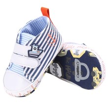 2018Fashion Toddler Baby Boy Shoes Kids Canvas Casual Stripe Soft Lace