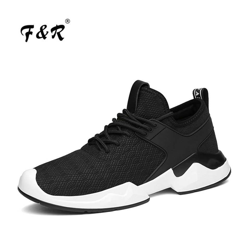 F&R 2018 Spring Men Air Mesh Breathable Men Walking Sneakers Man Huaraches Running Shoes Sports Jogging Trainer Footwear 5 39-44