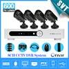 NVR Home 8CH H 264 Surveillance DVR 4pcs Weatherproof Security Camera CCTV System Kit Iphone Andriod