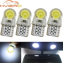 4X Auto T10 Led White Blue Pink 194 W5W 168 Silica Car Turn Signal Trunk Lamp License Plate Lamp Dome Led Car Door Parking Light