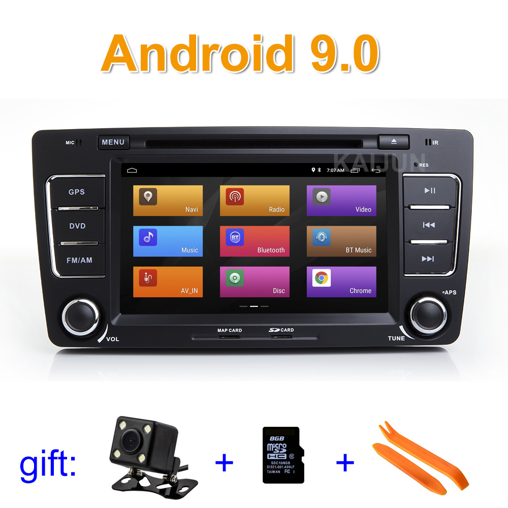 IPS screen Android 9 Car DVD Player Stereo Radio GPS for Skoda Octavia 2009 2012
