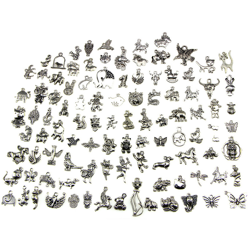 Wholesale New Arrival Charm for DIY 100Pcs Mix Animal Charm Pendants DIY JewelryWholesale New Arrival Charm for DIY 100Pcs Mix Animal Charm Pendants DIY Jewelry
