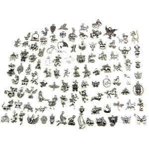 YITING Charm for 100Pcs Mix Charm Pendants DIY Jewelry