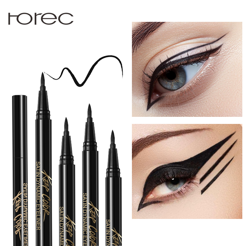 ROREC Enhanced Liquid Eyeliner Sticker Eye Liner Gel Black Eye Pencil Waterproof Sweat Resist Charming Eyeliner