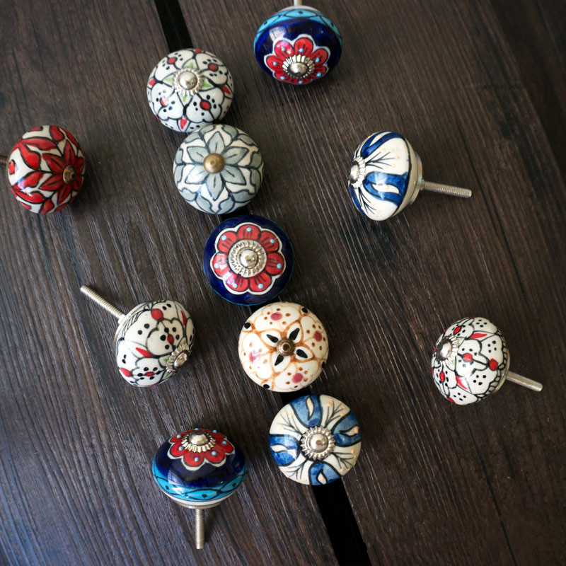 Variety style door handle Drawer Cabinet Pulls furniture handles knobs wardrobe door handle Furniture hardware children room conch shape ceramic drawer cabinet wardrobe pulls knobs blue white office furniture handles