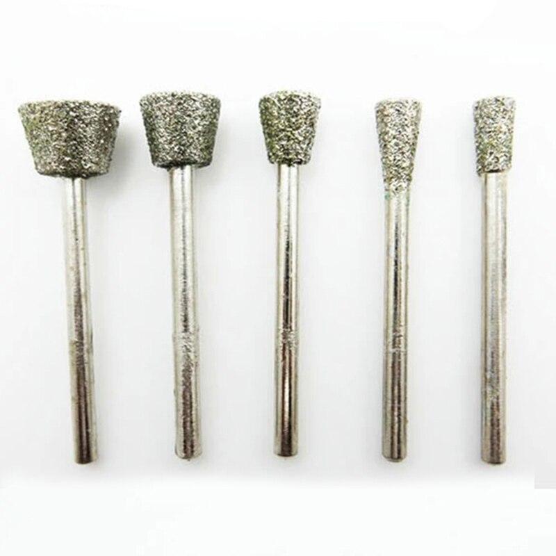 5pcs diamond tools for granite diamond grinding wheel dremel rotary tool diamond burs diamond router bits for stone accessories diamond tools for granite
