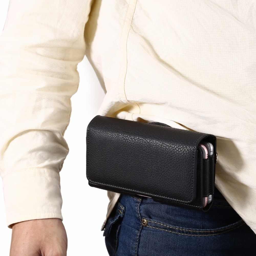 جراب هاتف مع حزام كليب الحافظة جيوب مزدوجة المغناطيسي الحقيبة الخصر جراب هاتف شاومي Redmi 2 3 4 4X5 زائد نوت 3 4 4A 5 5A