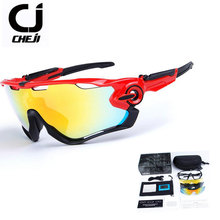 2017 Polarized Cycling Glasses Outdoor Sports Mtb Bike Bicycle Fishing Sunglasses Goggles 4 Lenses Eyewear Oculos Ciclismo