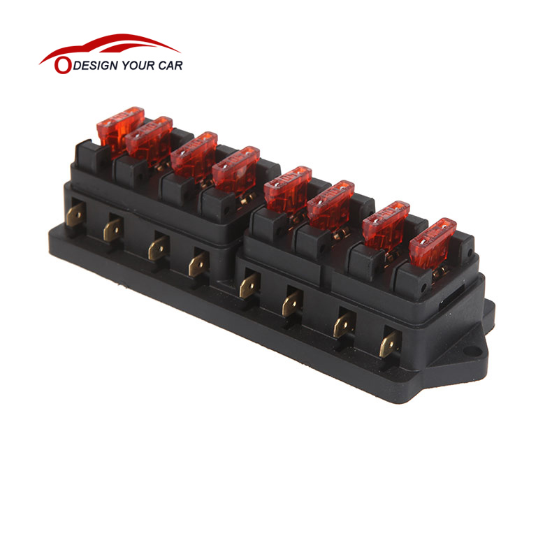 Universal Car Truck Vehicle 8 Way Circuit Automotive Middle sized Blade font b Fuse b font online get cheap fuse box covers aliexpress com alibaba group Waterproof Motorcycle Fuse Block at panicattacktreatment.co