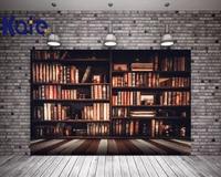 KATE 7x5ft Photography Backdrops Floors Bookshelf Books Retro Back to School Photo Background Photocall for Kids Fond Studio