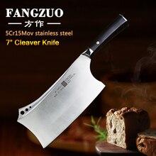 FANGZUO 4cr14mov Edelstahl Küche Messer 7 Hacken Küche Messer Ebenholz griff Cleaver Kochen Chinesische messer