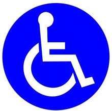 Wootile 2 X Set of 200 Disabled Wheelchair Handicap Round Vinyl Decal Sticker Label
