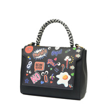 Cute Graffiti Ladies Hand Bag 2016 New Stylish font b Handbag b font Lovely Cartoon Designer