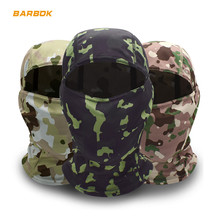 WOSAWE Camouflage 3D Motorcycle Helmets Face Mask Cycling Bike Bicycle Motorbike Helmet Scarf Tactical Airsoft Cap Ski Balaclava