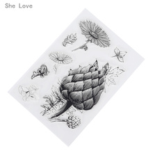 She Love Transparent Clear Silicone Stamp for DIY Scrapbooking Card Making Kids Fun Decoration Supplies