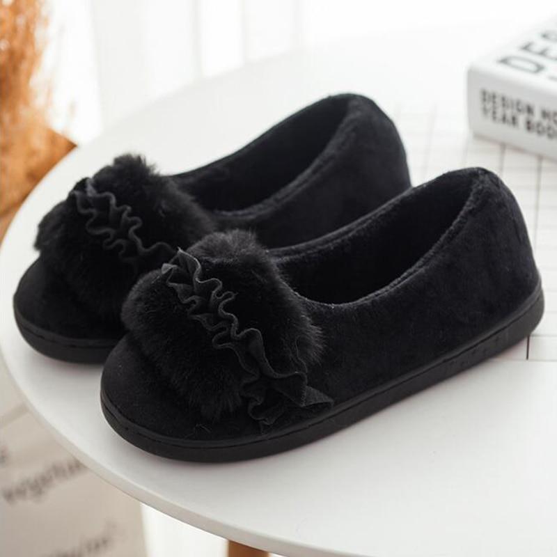 Antideslizantes De Mujer Zapatillas púrpura Planas Cómodo Interiores Interior 2019 Negro rosado Suave Zapatos Ocio Red bean gris Casa Cálido Sh193 Moda Algodón xvwqFq7