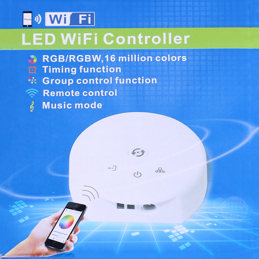 WIFI RGBW Remote Controller Support Android IOS system of Apple,Samsang,LG,Sony,HP,Philips,Newsmy mobile,ipad for LED strip