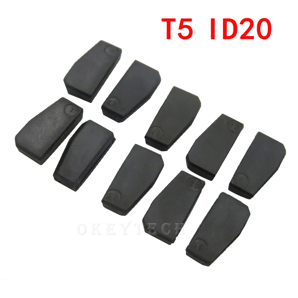 10pieces Car Key Chip T5 ID20 Ceramic for Car Key Locksmith Tool ID T5 Transponder Chip Carbon original new blank for 11 12 13 okeytech 10pcs lot best car key chip t5 id20 ceramic for car key transponder key id t5 transponder chip copy to id 11 12 13 33