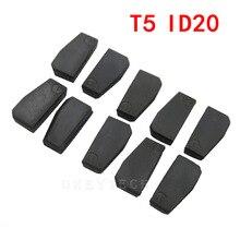 Promo 10pieces Car Key Chip T5 ID20 Ceramic for Car Key Locksmith Tool ID T5 Transponder Chip Carbon original new blank for 11 12 13