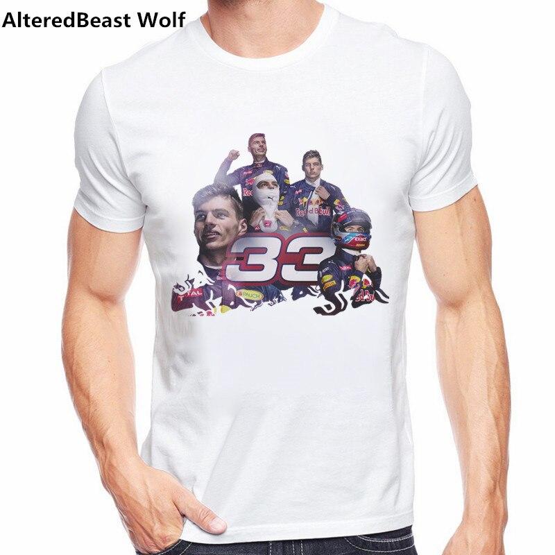 2019 New Summer   T     Shirt   Formula 1 Driver Max Verstappen 33 Mens Graphic O-neck   T  -  Shirt   Men O Neck Short Sleeve Tshirt Tee Tops