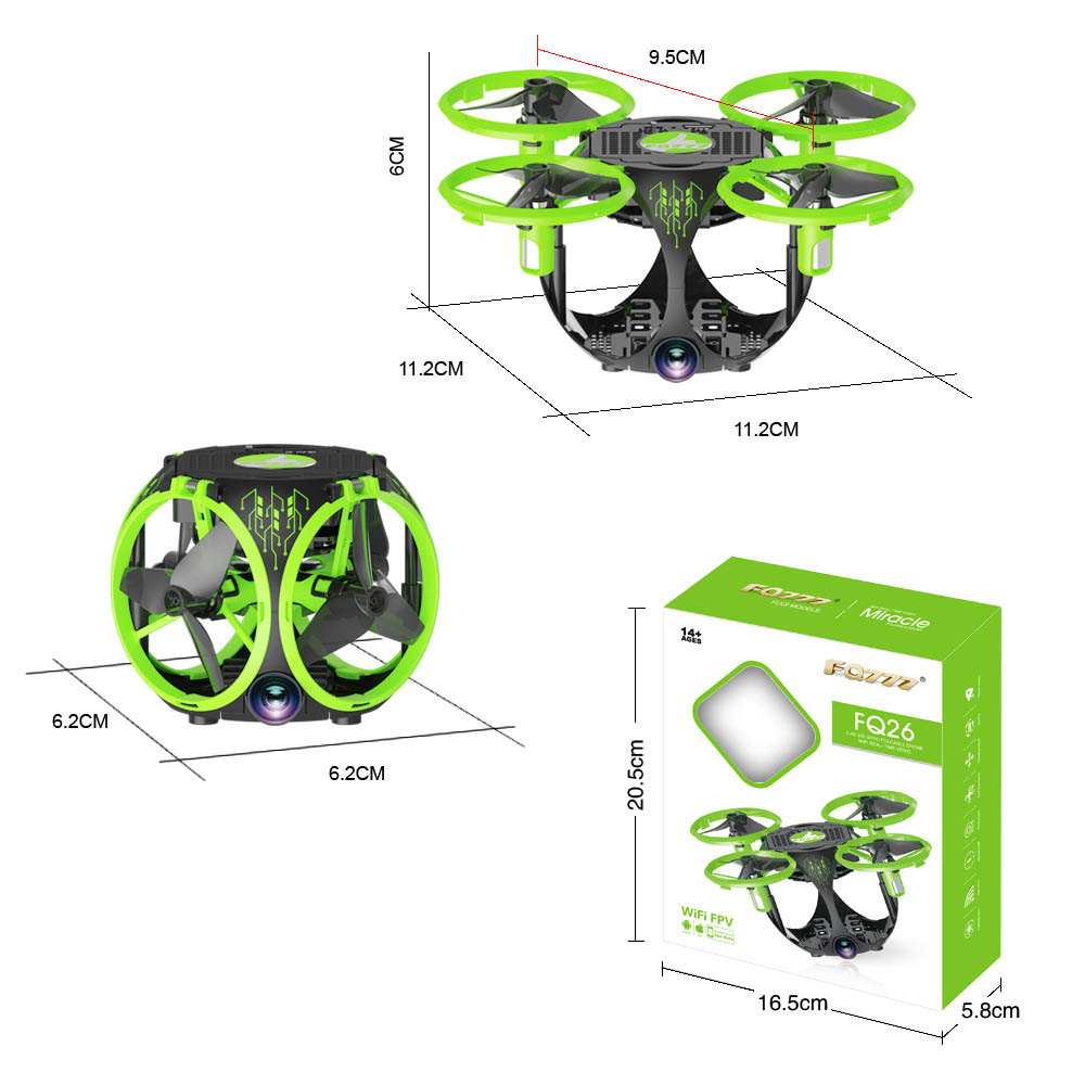 Image 5 - Drone WIFI folding spherical UAV Aerial photography Mini Four axis aircraft model toys UFO toys-in RC Helicopters from Toys & Hobbies