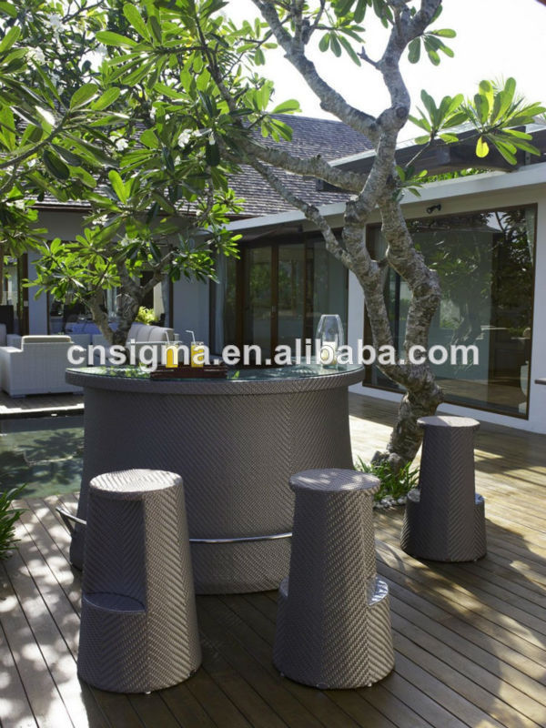 New Design Garden Furniture Rattan Outdoor Bar Sets In From On Aliexpress Alibaba Group