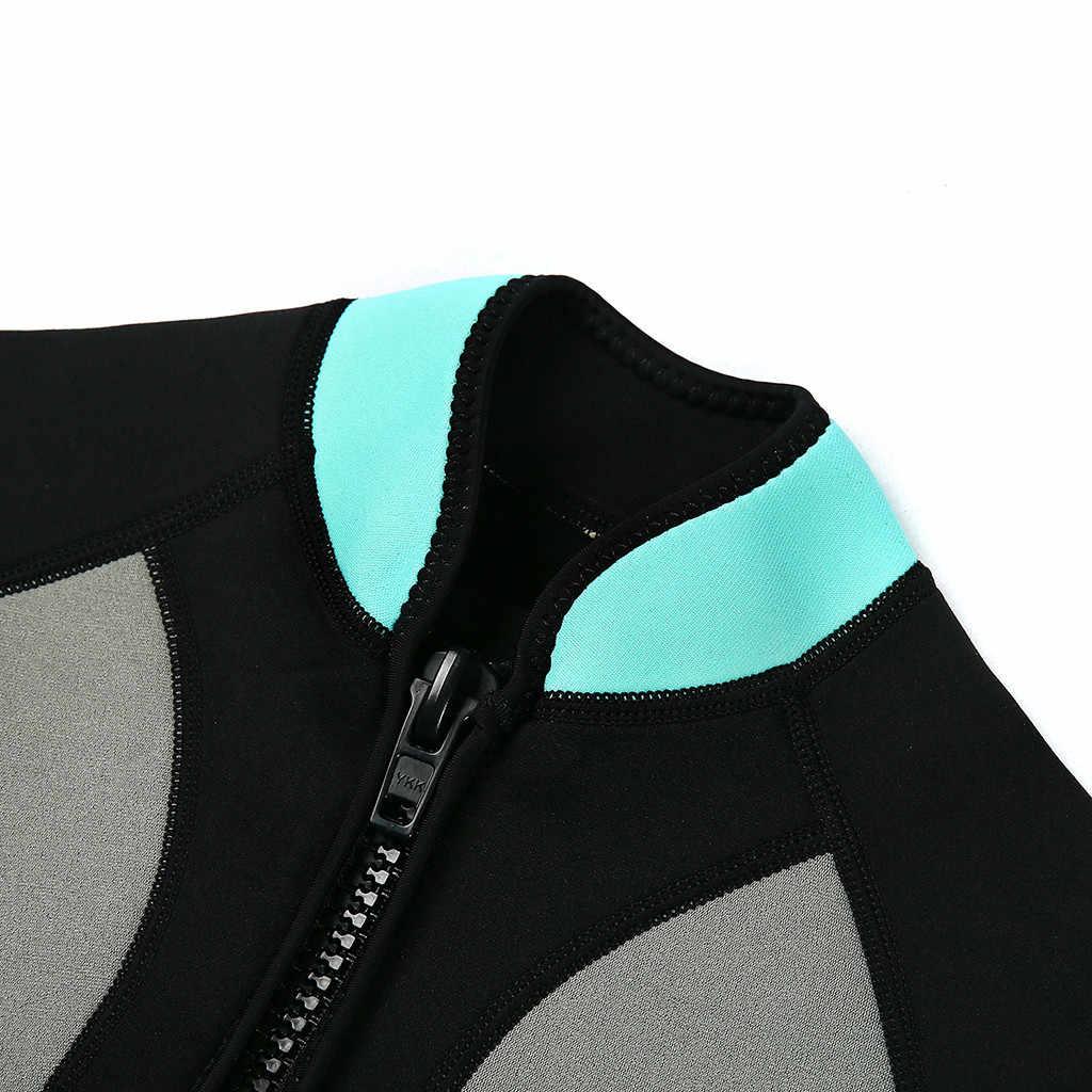 Womail yeni erkek 2.5MM neopren çocuk dalgıç kıyafeti dalgıç kıyafeti siyam kısa kollu UV koruma mayo