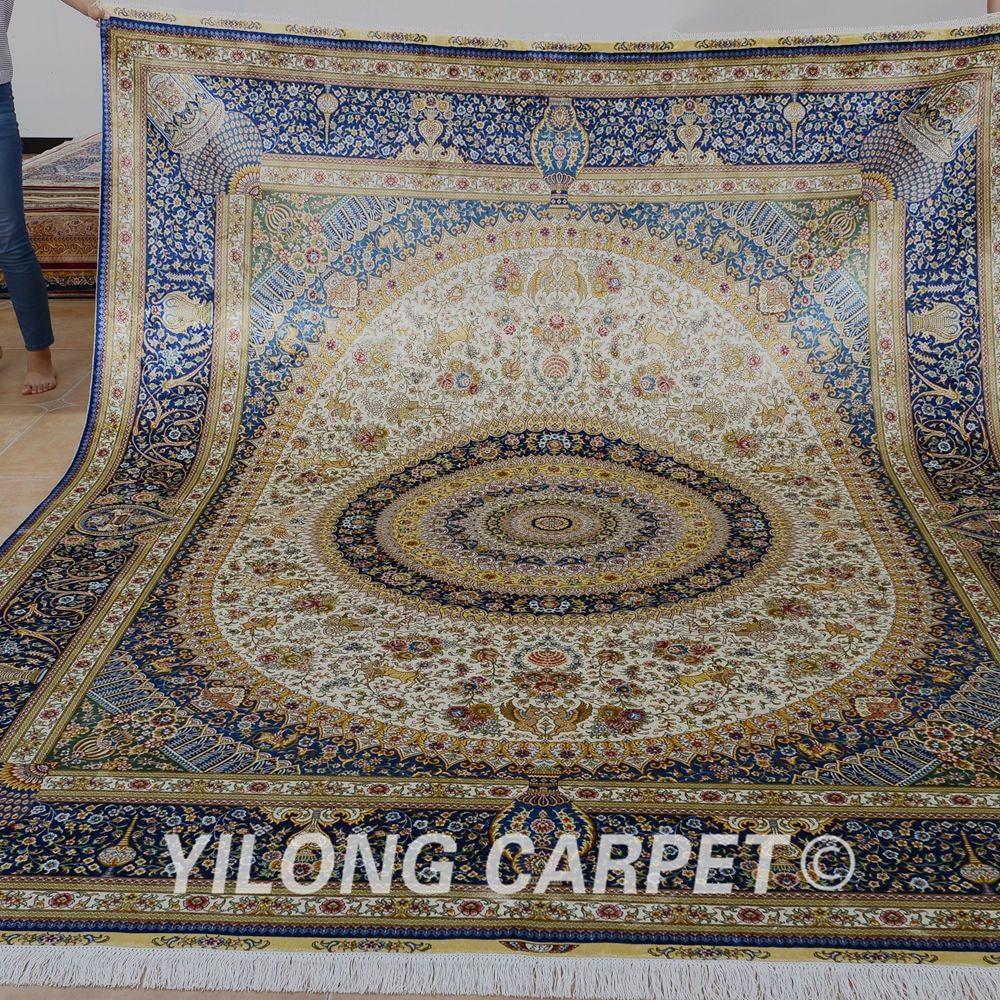 Traditional Kashmir Silk Handmade Hand Knotted Persian: Aliexpress.com : Buy Yilong 8'x10' Vantage Large Hand