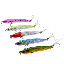 1Pcs Metal Spoon Boat Fishing Lure VIB 30g/7.5cm Knife Jig Fishing Bait Lead Fish With Fish Hooks цена