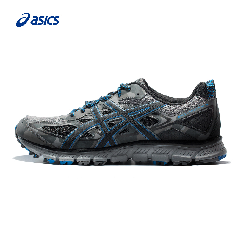ASICS Men GEL-SCRAM 3 Mesh Breathable Cross-country camouflage Cushioning Jogging Running Shoes Sneakers Sport Shoes T6K2N