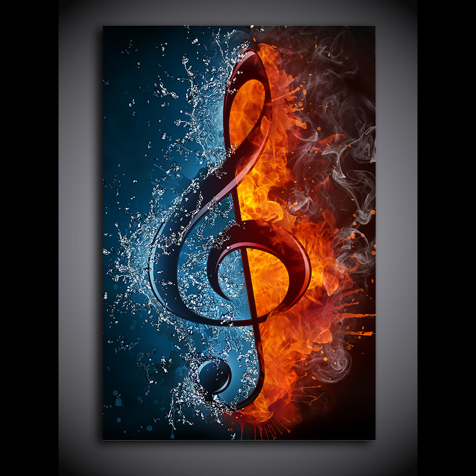 music canvas art music note gifts