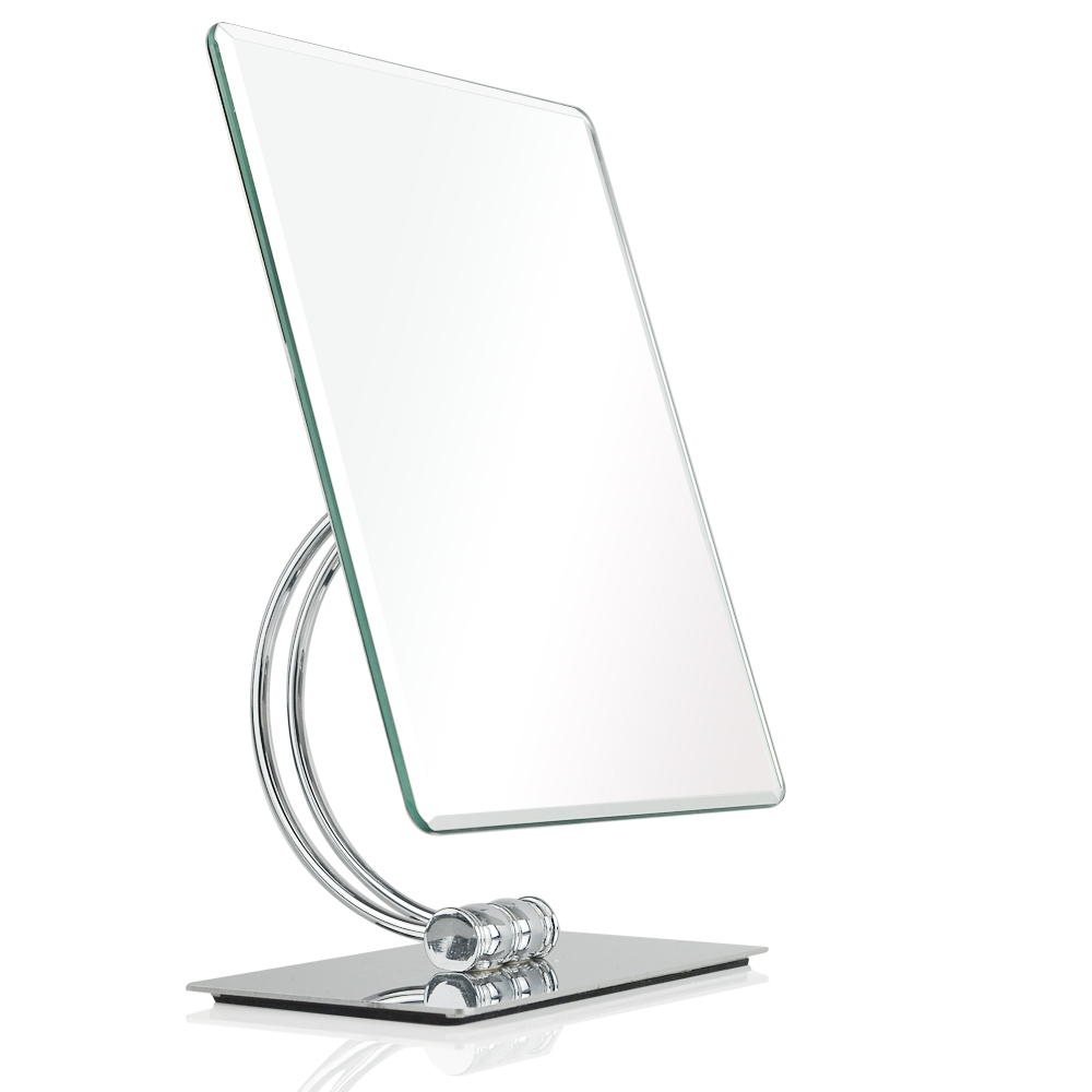 360 degrees swivel rotation Tabletop Vanity Makeup Mirror 10 2 x 8 2 inch Rectangle Chrome