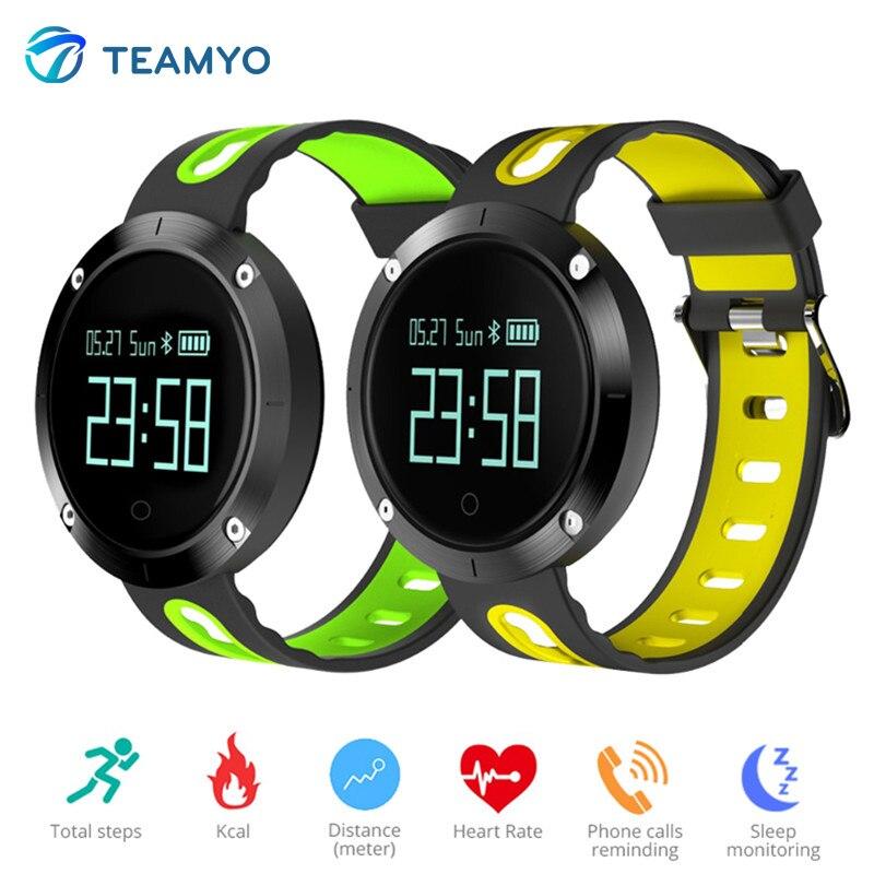 imágenes para Teamyo DM58 Deporte De Fitness Inteligente Pulsera Relojes Heart Rate Monitor de Presión Arterial Sueño Pulsera Inteligente Para iOS Android