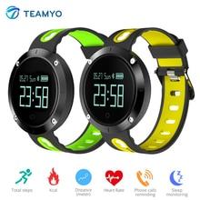 Teamyo DM58 Спорт Смарт Браслет Приборы для измерения артериального давления сердечного ритма Мониторы Сна Трекер Смарт Браслет для IOS Android