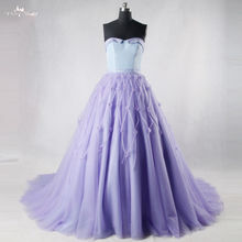 RSE707 Lavendel Lila Lange Prom Kleider Quinceanera Kleider