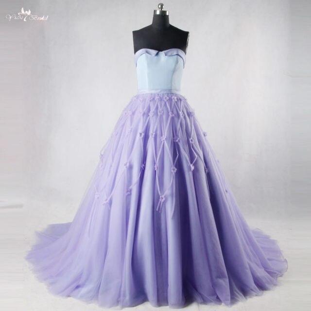 RSE707 Lavendel Lila Lange Prom Kleider Quinceanera Kleider in ...