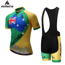 Miloto Cycling Jersey 2017 Gel Breathable Pad Cycling Pants Clothing conjunto ciclismo Cycle Team Equipment Cycling Jersey Set