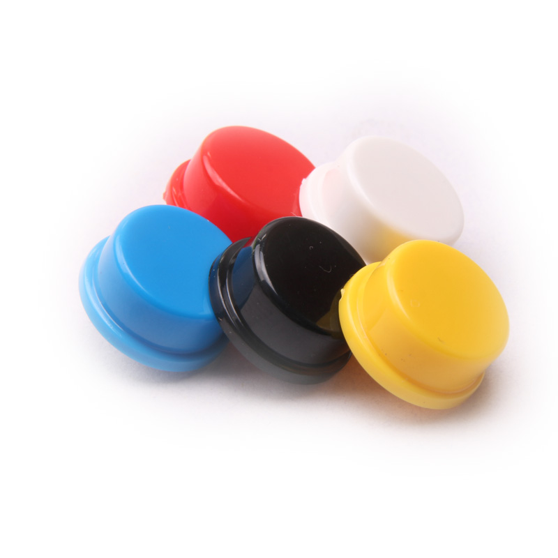 Glyduino 50PCS B3F Round Button 12*12*7.3 MM Round Switch Cover For Arduino